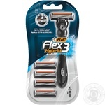 BIC Flex 3 Hybrid Men Shaving Razor With 4 Replacable Cartridges - buy, prices for Novus - image 1
