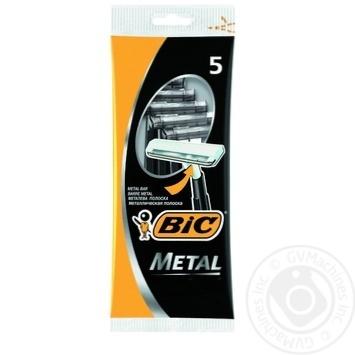 Бритва мужская BIC Metal 5шт - купить, цены на Novus - фото 1