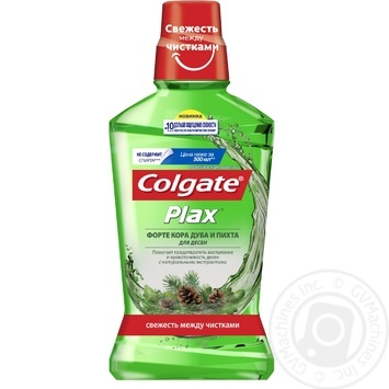 Ополаскиватель Colgate Plax Форте Кора дуба и пихта для десен, антибактериальный 500мл - купить, цены на Таврия В - фото 2