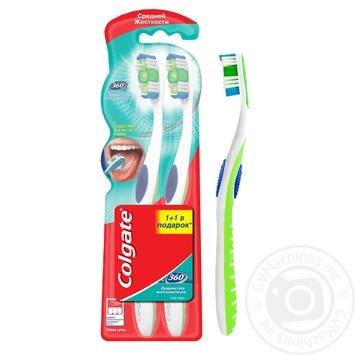 Зубна щітка Colgate 360 Суперчистота всієї порожнини рота середньої жорсткості промоупаковка 1+1 - купити, ціни на Восторг - фото 3