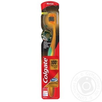 Colgate 360 ° Gold toothbrush with charcoal soft in assortment - buy, prices for Furshet - image 3