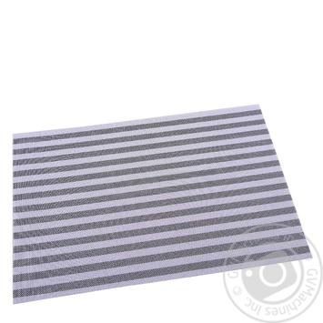 Килимок сервірувальний вініловий темно-сірий Renberg 30*45см - купить, цены на Novus - фото 1