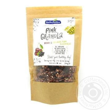 Сніданок сухий Pink Granola Ягідна крафт-пакет Healthy Tradition 200г - купити, ціни на Novus - фото 1
