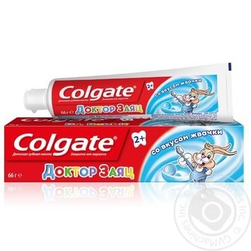 Детская зубная паста Colgate Доктор Заяц со вкусом жевательной резинки 50мл - купить, цены на Novus - фото 7
