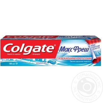Зубна паста Colgate Макс Фреш Вибухова м'ята 100мл - купити, ціни на Novus - фото 2