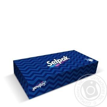 Салфетка гигиенические Selpak Макси в коробке 3шара 100шт