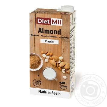 Молоко растительное из миндаля Diet mil Классическое 1л