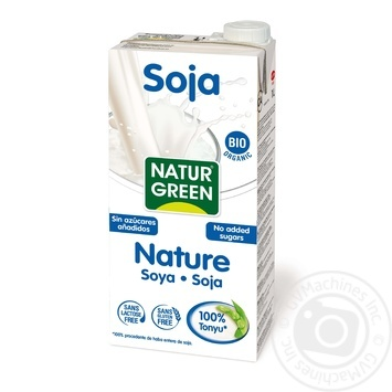 NaturGreen from soya with agave syrup organic milk 1L