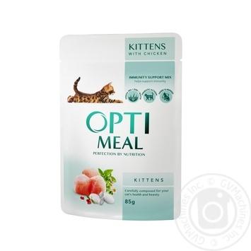 Корм Optimeal для котят с курицей 85г - купить, цены на Novus - фото 1