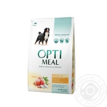 Корм для собак Optimeal больших пород курица сухой 4кг