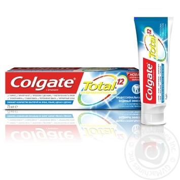 Зубная паста Colgate Total 12 Профессиональная Видимый Эффект комплексная антибактериальная 75мл - купить, цены на Фуршет - фото 2