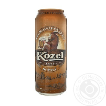 Пиво Velkopopovicky Kozel светлое ж/б 3,5% 0,5л