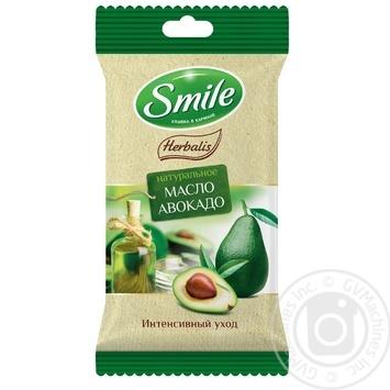 Серветки вологі Smile Herbalis з оліями в асортименті 10шт