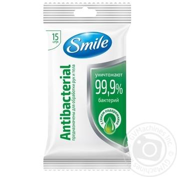 Салфетки влажные Smile Antibacterial 15шт в ассортименте - купить, цены на Ашан - фото 3