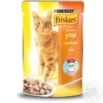 Food Friskies With сhiken pieces in gravy for adult cats 100g