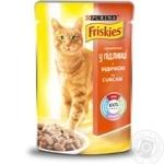 Корм Friskies С индейкой кусочки в подливке для взрослых кошек 100г