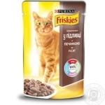 Корм Friskies С печенью кусочки в подливке для взрослых кошек 100г