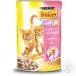 Корм Friskies С курицей кусочки в подливке для котят 100г