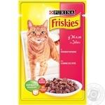 Корм Friskies З яловичиною у желе для дорослих котів 100г