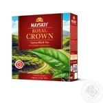 Чай чорний Майский Царська Корона в пакетиках 100шт*2г
