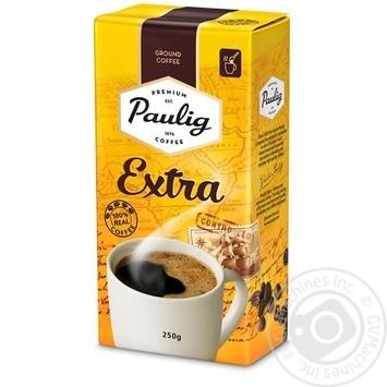 Кава Пауліг Екстра натуральна мелена середньообсмажена 250г