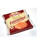 Сыр плавленый President Emmental для тостов 40% 120г
