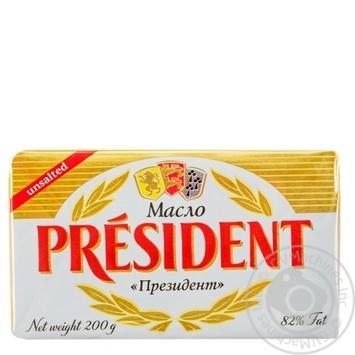 Масло President кислосливочное 82% 200г - купить, цены на Фуршет - фото 1