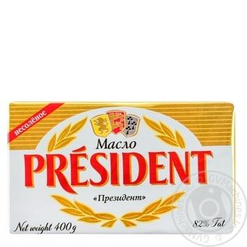 Масло President кисловершкове несолоне 82% 400г - купити, ціни на Восторг - фото 1