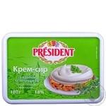 Крем-сыр Президент с укропом и петрушкой 18% 180г