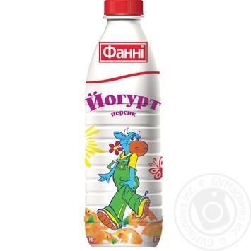 Йогурт Фанни персик питьевой 1% 870г