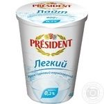 Творог President Легкий 0,2% 400г