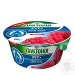 Крем сирковий Лактонія термізований наповнювачем малина нежирний 0,2% 140г