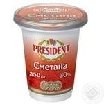 Сметана President 30% 350г