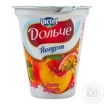 Йогурт Lactel Дольче Персик-Маракуйя 3,2% 280г