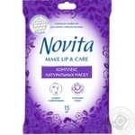 Салфетки влажные Novita Make Up&Care 15шт - купить, цены на Novus - фото 2