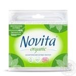 Палочки ватные Novita Organic в пакете 100шт