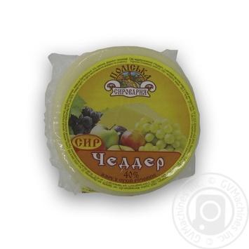 Poliska Syrovarnya Cheddar Cheese 40% - buy, prices for MegaMarket - image 1