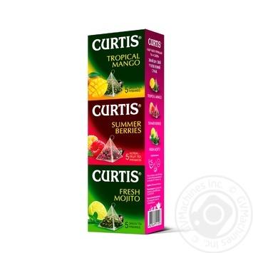 Набір чаю Curtis Tropical Mango+Summer Berries+Fresh Mojito в пірамідках 15шт