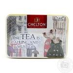 Чай чорний подарунковий набір крупнолистовий цейлонский Чай кличе? CHELTON 60г ж/б