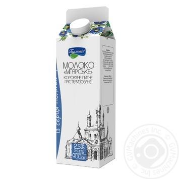 Молоко Гармония Мгарское пастеризованное 2,5% 900г - купить, цены на Novus - фото 1