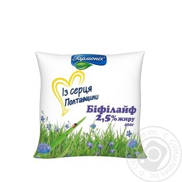 Продукт кисломолочный Гармония Бифилайф 2,5% 400г