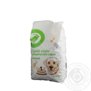 Сухой корм Ашан для взрослых собак куриный 2.5кг