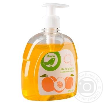 Soap Auchan Auchan peach liquid for body 450ml - buy, prices for Auchan - photo 1