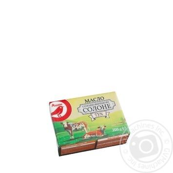 Масло Ашан Соленое сладкосливочное 73% 200г - купить, цены на Ашан - фото 2