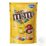 Драже M&M's с арахисом и молочным шоколадом в хрустящей разноцветной глазури 125г