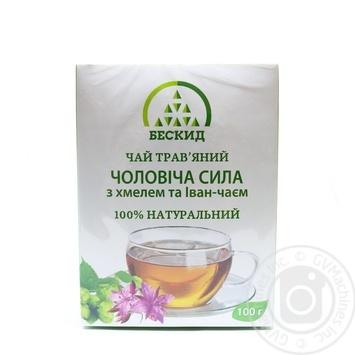 Чай трав'яний Чоловіча сила з хмелем та Іван-чаєм Бескид 100г