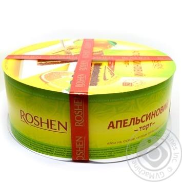Торт Roshen Апельсиновый 850г - купить, цены на Novus - фото 1