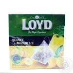 Чай фруктовий ароматизований  зі сливою мірабель та айвою у пакетиках для разового заварювання Loyd 20*2г