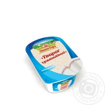 Творог Звени Гора Традиционный кисломолочный 0% 400г