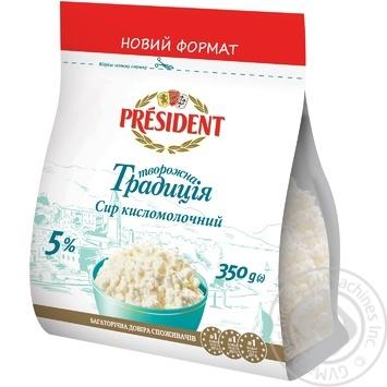President Tvorozhna tradytsiya cottage cheese 5% 350g